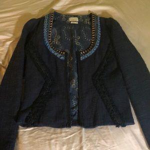 Dark blue woven jacket
